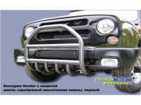 Кенгурин на УАЗ Хантер трубный с защитой двигателя