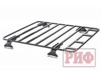 Багажник (платформа) РИФ 1200х1400 мм для Nissan Navara D40 (без штатных рейлингов)